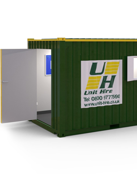 cut out of unit hire shipping container