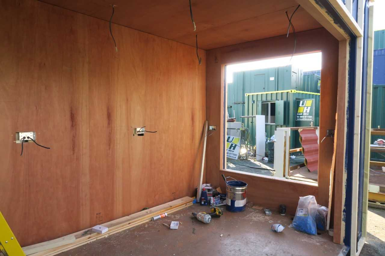 old shipping container conversion