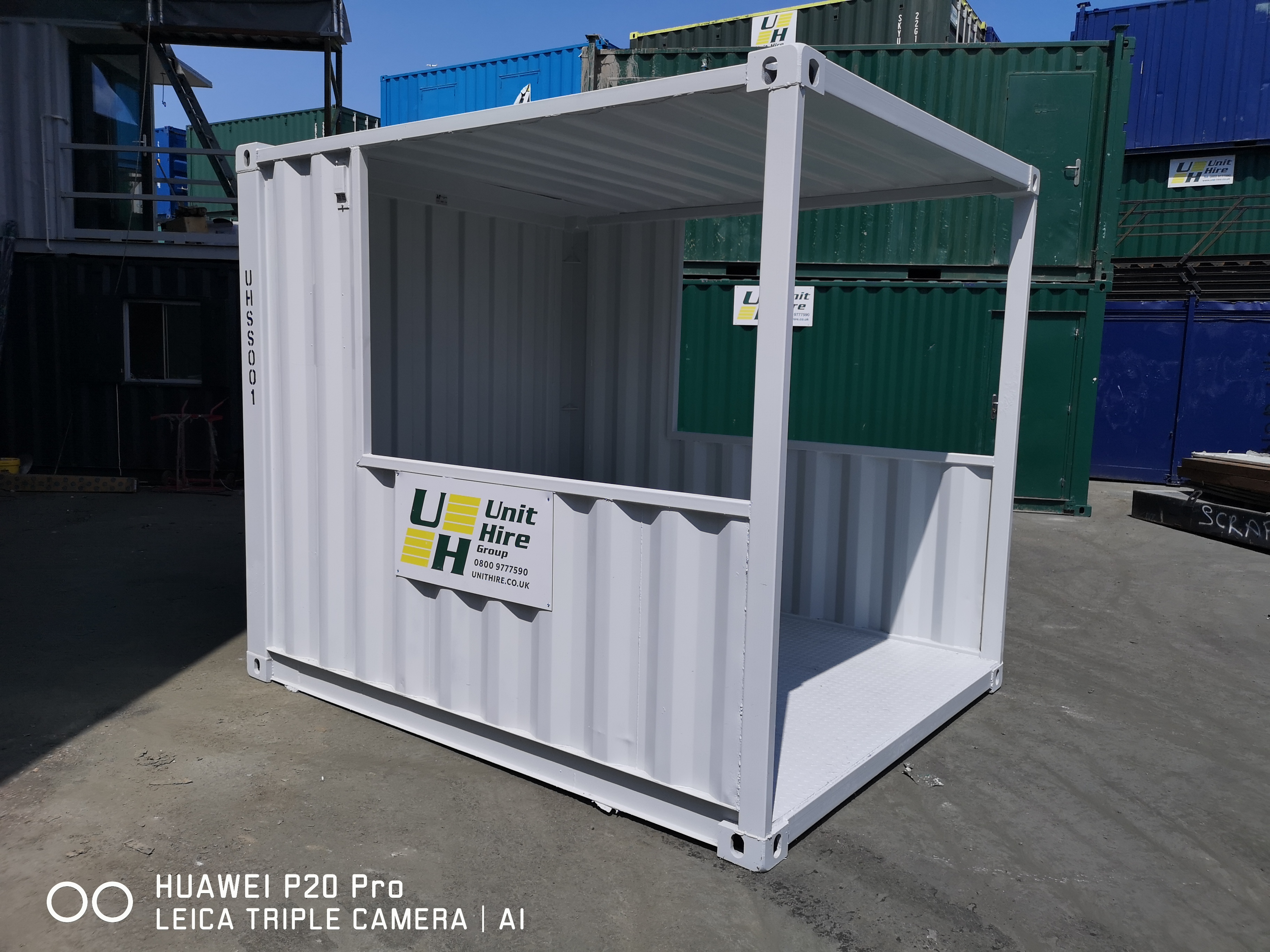 modified container smoking shelter
