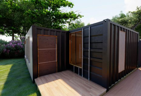 Shipping container shed